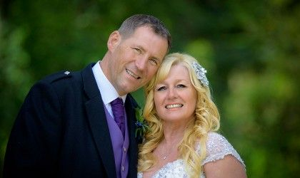 August 8th – Karen and John at Norwood Hall