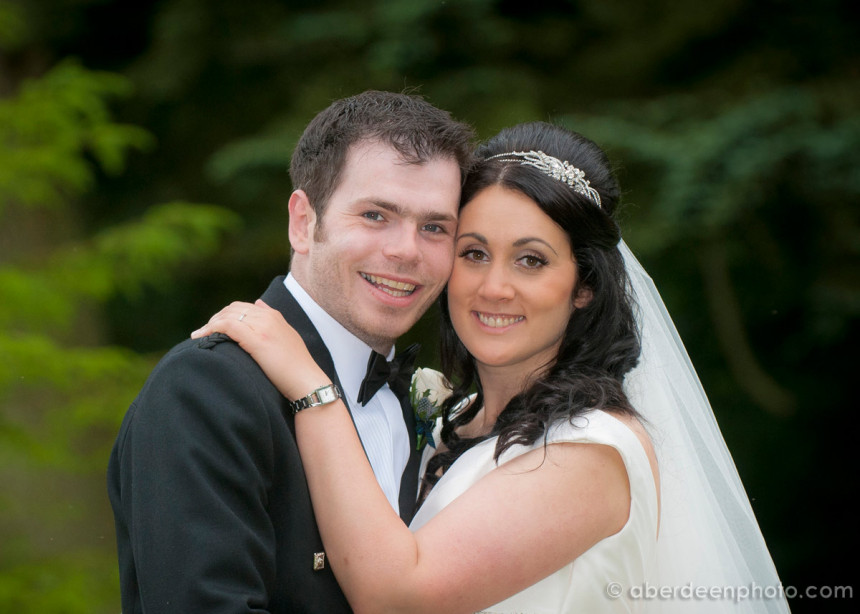 July 3rd – Frances and Stuart at Drumtochty Castle