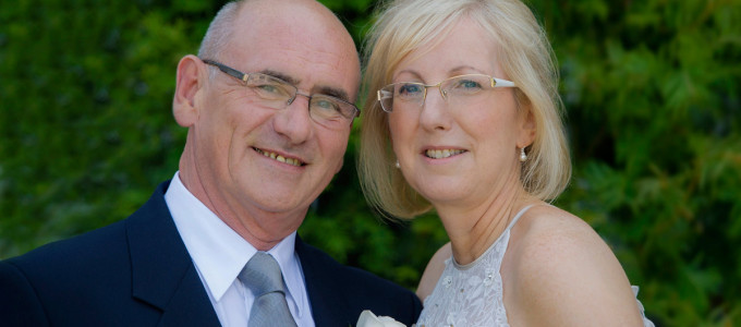 July 6th – Elaine and John at Marischal College