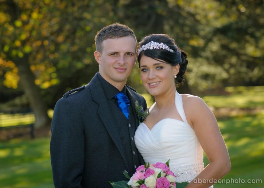 October 12th – Amy and David at Raemoir House