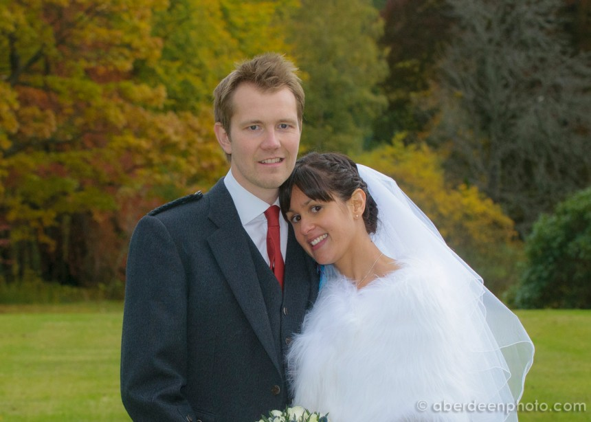 October 26th – Penny and Callum at Glentanar Estate