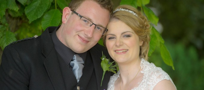 July 31st – Heather and Sam at Meldrum Church
