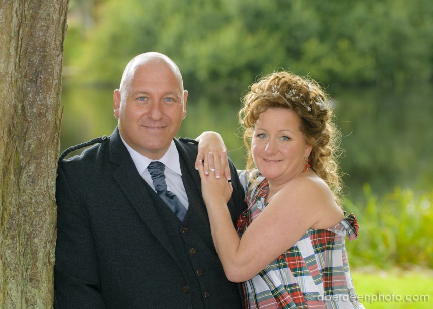 August 31st – Selina and Mark at Meldrum House Hotel