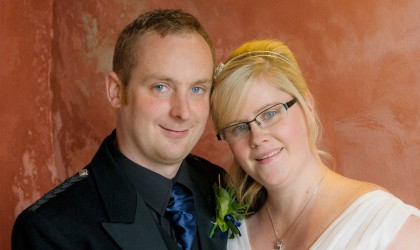 September 20th – Leanne and Michael at Meldrum House