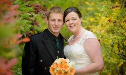 September 27th – Jayne and Alex at Tarland Church
