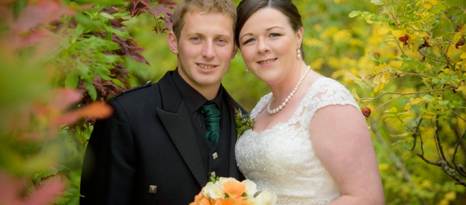 September 27th – Jayne and Alec at Tarland Church