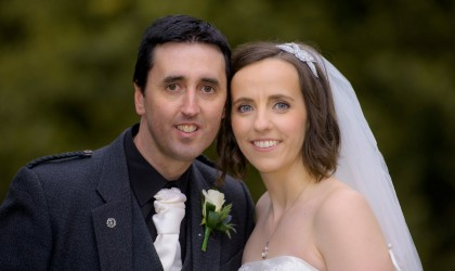 March 13th – Yvonne and Mark at St. Machars Cathedral and Norwood Hall