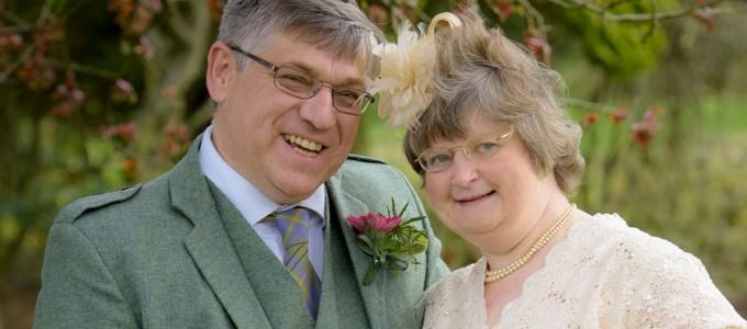 May 7th –  Lorna and Stephen at Newmachar Church