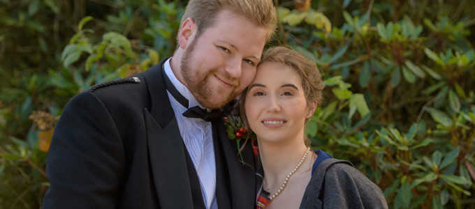 November 10th – Melissa and Callum at Meldrum House
