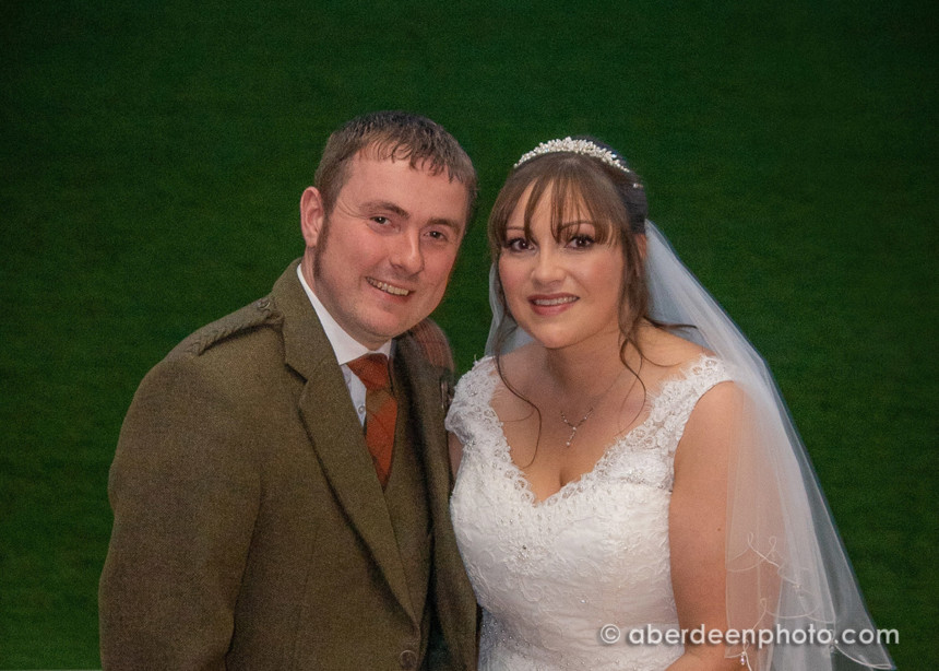 October 6th – Alan and Natalie Wedding Reception at Pittodrie Stadium