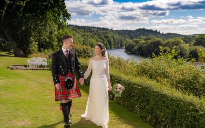 2021, August 16th – Jenny and Cameron at Ferryhill Church and Maryculter House Hotel